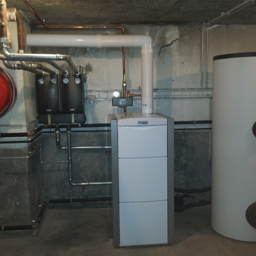 Rénovation d'une chaufferie avec une chaudière gaz