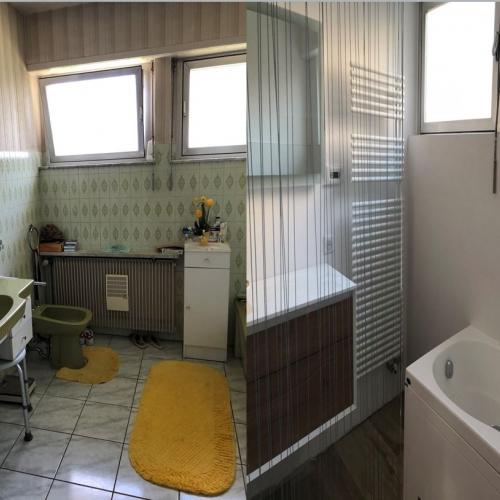 Rénovation de salle de bain avant/après